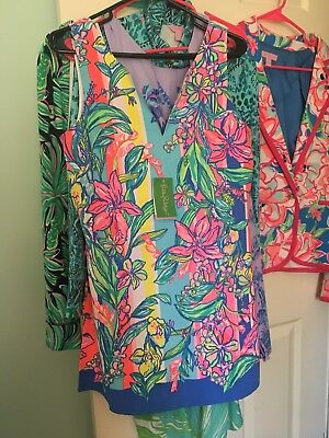 d8f3e7b5a6d6 NEW Lilly Pulitzer Donna Romper Size 6 Easy Tiger Engineered Multi Dress NWT