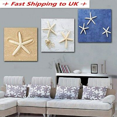 Unframed Modern Art Canvas Oil Painting Colorful Starfish Print Home Wall Decor