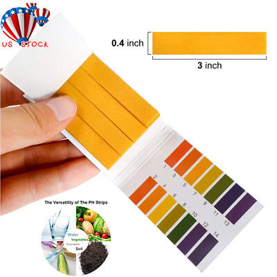 100 pH 0-14 Universal Full Range Litmus Test Paper Strips Tester Indicator Urine