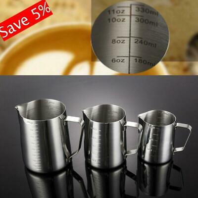 Measure Espresso Latte Milk Frothing Mug Foam Container Coffee Cup Pitchers Jug