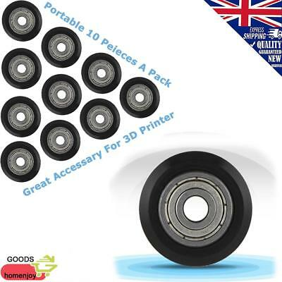 Portable 10Pcs CNC Wheel Pulley POM with Bearings 5mm Bore for 3D Printer  UK