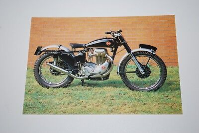 Vintage 1951 - 500cc Matchless G80/C National Motorcycle Museum Card