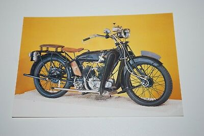 Vintage 1924 - 800cc Raleigh V.Twin National Motorcycle Museum Card