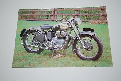 Vintage 1961 - 500cc Royal Enfield National Motorcycle Museum Card