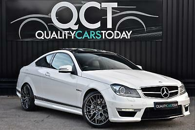 2013 Mercedes C63 AMG 6.2 V8 ( 457bhp ) Coupe + Diamond White + Pan Roof