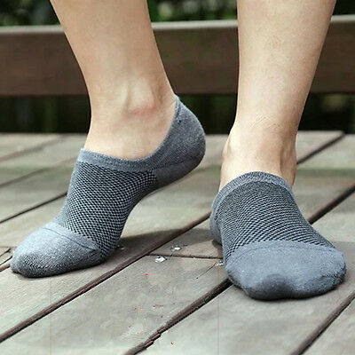 Fashion 5/10 Pairs Bamboo Socks Boat Non-Slip Invisible Low Cut Top AU