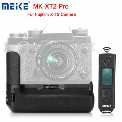 Meike MK-XT2 Pro Battery Grip with 2.4G Wireless Remote for Fuji X-T2 Cameras HD