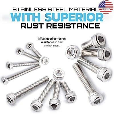 480pcs M2 M3 M4 Socket Head Cap Screws Hex Drive Stainless Steel Bolts and Nuts