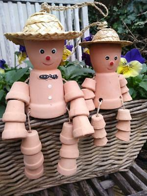 Cheeky Flower Pot Men Family With Straw Hats Garden Decorative Ornaments New (2)