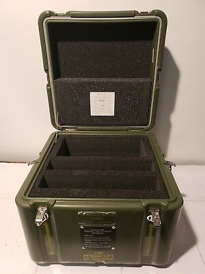 Hardigg 15 x 15 x 14 Case Pelican Chest Hinged Lid Cube Laptop Military Shipping