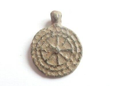 Byzantine Lead Seal > Stylized Star & Cross on back - Ancient Lead Seal Stamp