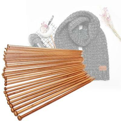 2019 36x  Carbonize Bamboo Single Pointed Crochet Hook Knitting Needles