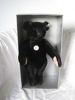 steiff  BLACK BEAR 1907Teddy Bear Replica 1988 im Originalkarton mit Zertifikat