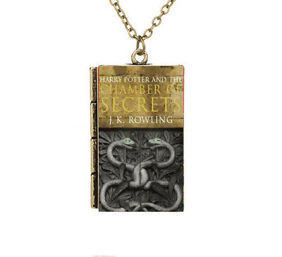 Miniature Harry Potter and the Chamber of Secrets Snake TINY Book Necklace