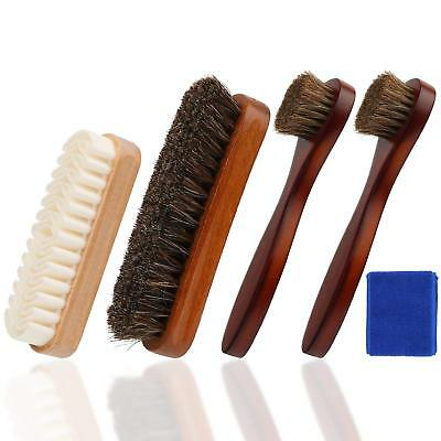 Shoe Shine Polish Brushes Suede Nubuck Dauber Care Kit Leather Cleaning Cloth