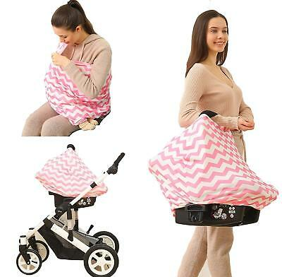 Nursing Cover Infinity Breastfeeding Privacy Protector Scarf Baby Car Seat Cover