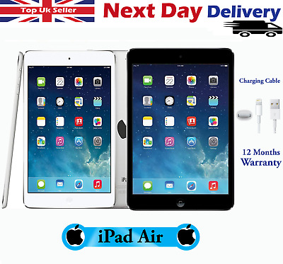Apple iPad Air 16/32/64/128GB WiFi / Cellular 9.7in Various Colours Excellent A+