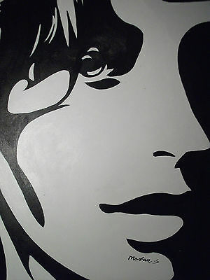 black white pop art abstract face large oil painting canvas contemporary modern