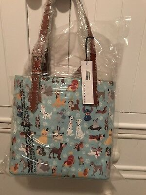 Disney Dooney & Bourke DOGS blue tote purse bag ~ NWT! Best placement! SEALED!