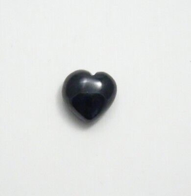 Black Onyx Heart Shape Cabochon 12x12mm 8.20ct+ Black Onyx Heart Cabochon