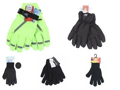 Unisex Thick Knitted  Fingerless Magic Gloves Mens High Visibility Ski Gloves