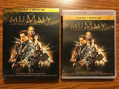 The Mummy Ultimate Collection (Blu-ray Disc, 2017, 5-Disc Set)  LIKE NEW, UNUSED