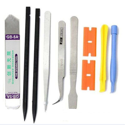 10 in 1 Mobile Repair Opening Tool Kit Set Pry Screwdriver For iPhone Cell Phone