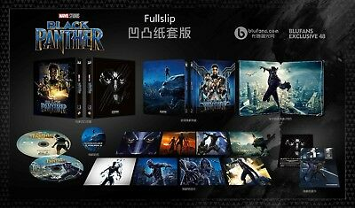 Black Panther BluFans Exclusive Full Slip Steelbook (Blu-ray 2D/3D) PREORDER