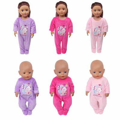 """18"""" Baby Doll Clothes Suit Doll Jumpsuit Suit Doll Nightdress Sleeping Clothes I"""