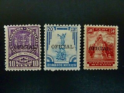 Mexico Lot of Three(3) Official Stamps MH - See Description & Images