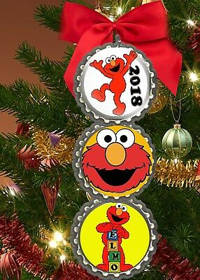 Ornaments Sesame Street 6 Piece Christmas Tree Set Featuring