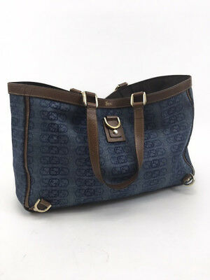 0621c38d9c1 GUCCI BLUE DENIM GG Canvas Abbey D-Ring Tote -  245.00