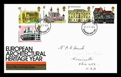 Dr Jim Stamps Architectural Heritage Year Fdc United Kingdom European Size Cover