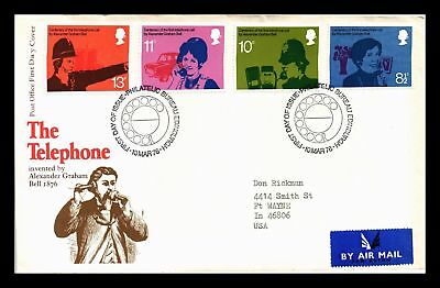 Dr Jim Stamps The Telephone Fdc Combo United Kingdom European Size Cover 1976