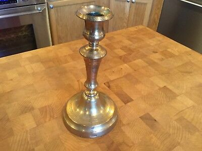 Early 17th/18th Century Brass Candlestick Marked МЕИС