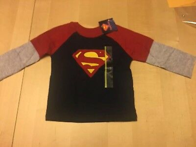 Superman Brand Tshirt, Red And Blue, Long Sleeves, 12 Months, New With Tags!