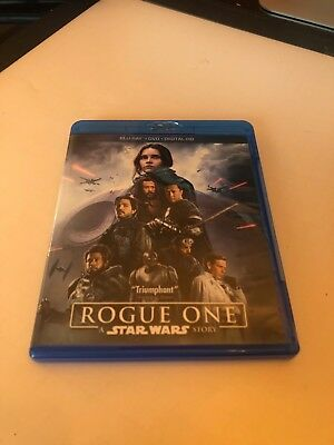 Rogue One: A Star Wars Story (Blu-ray/DVD, 2017, 3-Disc Set, Includes Digital...