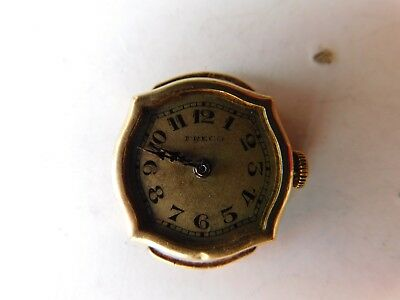 RARE Vintage Art Deco 18KT Solid Gold Ladies Watch Swiss Freco working no glass