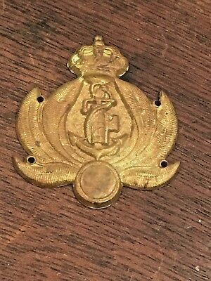 ITALIAN WW2 FASCIST MILIZIA PORTUARIA Brass Relief SHIELD Badge Very RARE
