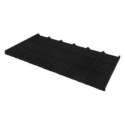 18 Divided Black Velvet Insert Tray Jewelry Display Compartment Organizer