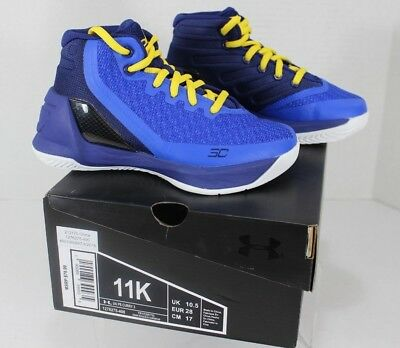 the latest b453a 04479 UNDER ARMOUR CURRY 3 Size 11K (Pre-School) Kids Basketball ...