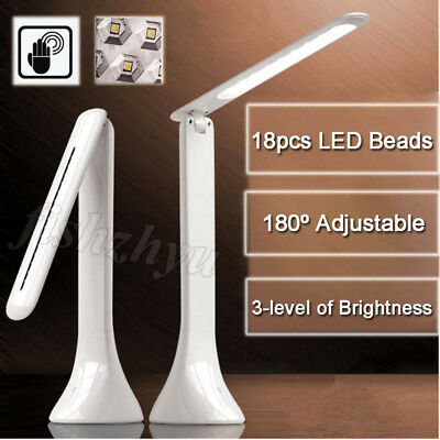 Foldable Rechargeable LED Desk Table Lamp Light Reading Study Bedside Touch OZ