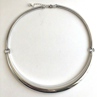 Arthur Court Necklace Aluminium Dome 17in to 19in Collar Choker Polished Jewelry