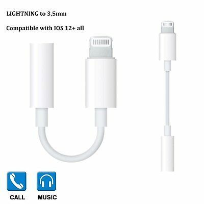Lightning Adapter 3,5 mm Klinke für Apple MMX62ZM iPhone 7 8 X Kopfhörer Kabel