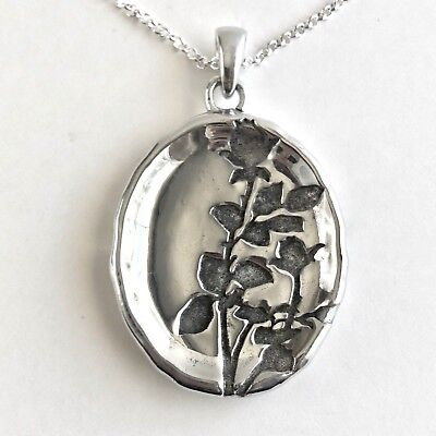 Arthur Court Jewelry Necklace Rosebud Leaves Aluminium 24 to 26in Chain Oxidized