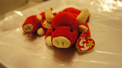 Ty Beanie Baby Snort The Red Bull Great Condition
