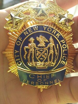 Vintage Obsolete Very Rare 3 Star New York City NYPD Police Badge