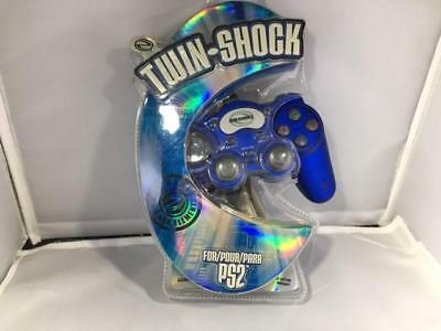 Twin-Shock For Ps2 Game Controller - Blue