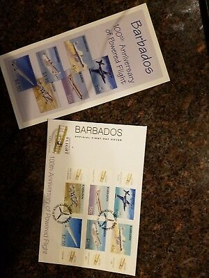 Barbados 100th Anniversary of Powerd Flight Stamps