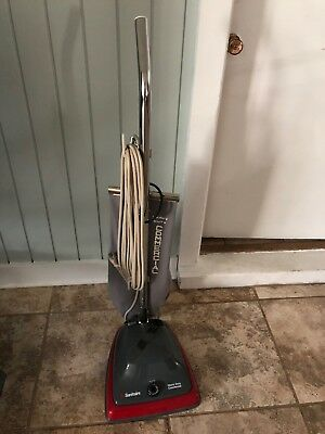 Sanitaire Heavy Duty Commercial Vacuum Upright Gray Red Sc679
